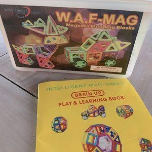 82-piece magnetic building blocks